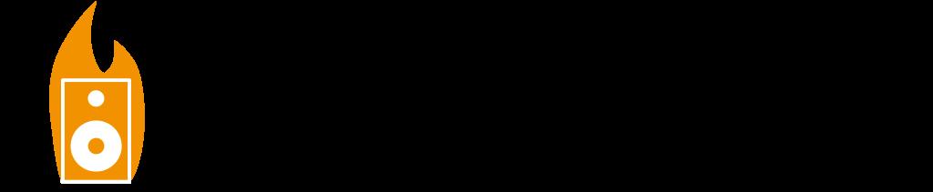 Burning-Music Banner Slogan