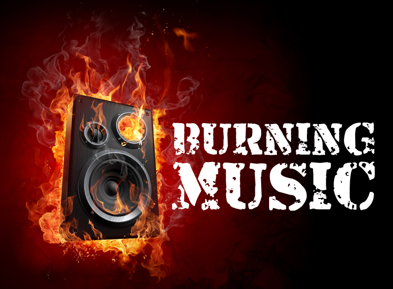 Burning speaker