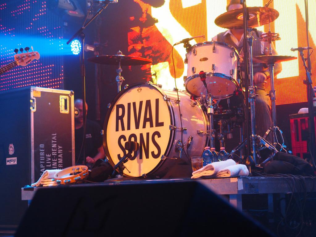 Das Schlagzeug von Drummer Mike Miley