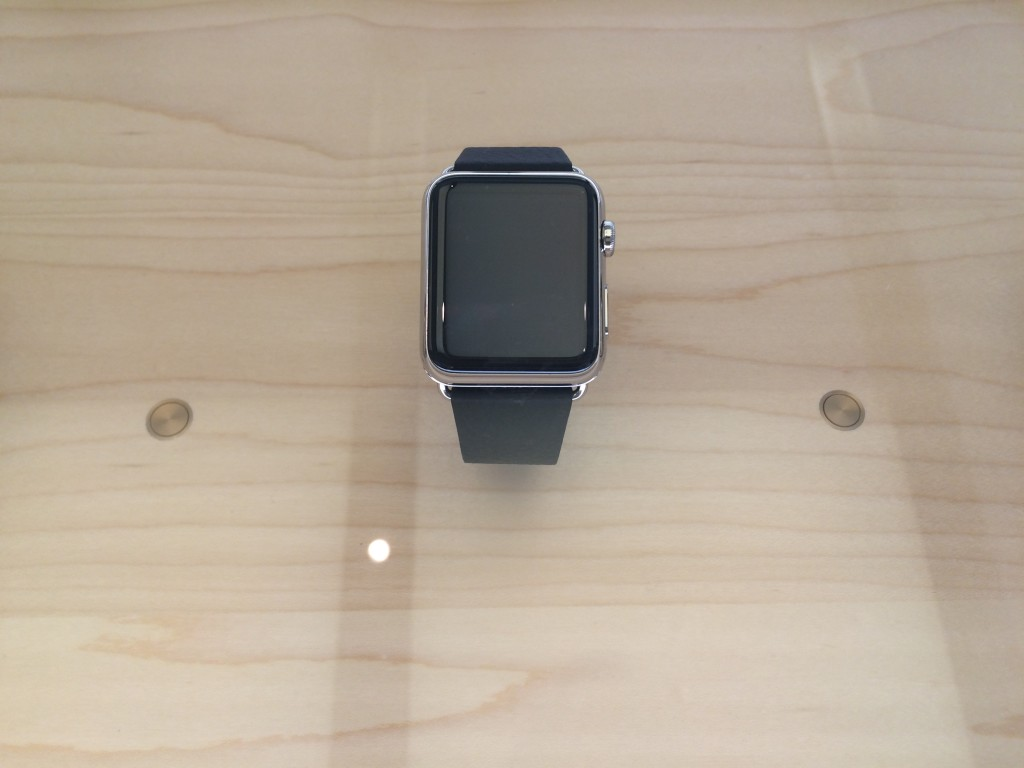 Apple Watch black leather loop