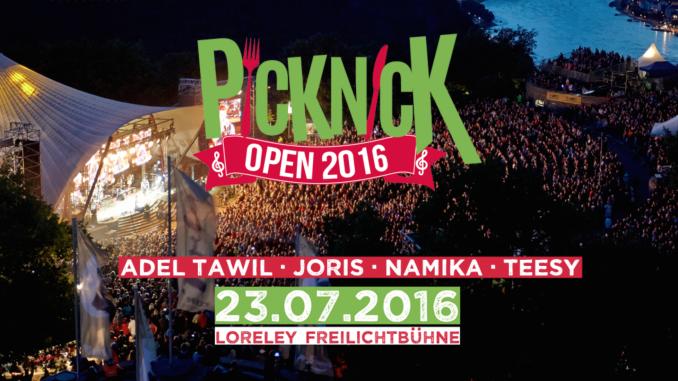 Picknick Open Loreley Freilichtbühne Adel Tawil Namika Joris