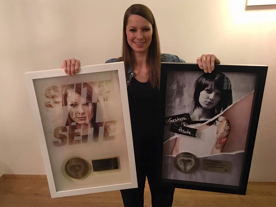 Christina Stürmer Seite an Seite Gestern Heute Platin Gold Schallplatte